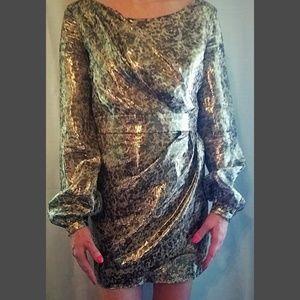 Shoshanna Metallic Mini Dress